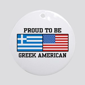 Greek American Ornament (Round)