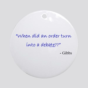 Order and Debate Ornament (Round)