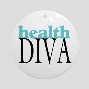 Health Diva Ornament (Round)