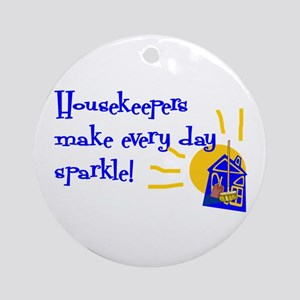 Housekeeper Appreciation Ornament (Round)