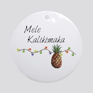 Mele Kalikimaka - Hawaiian Christma Round Ornament
