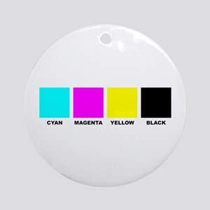 CMYK Four Color Process Ornament (Round)