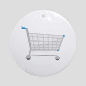 Shopping Cart Ornament (Round)