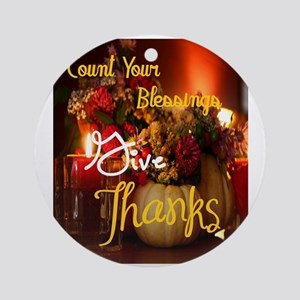 Count Your Blessings Round Ornament