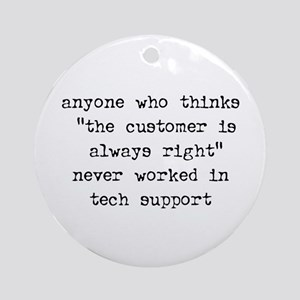TECH SUPPORT - Ornament (Round)