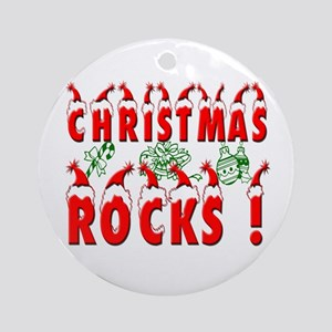 Christmas Rocks ! Ornament (Round)