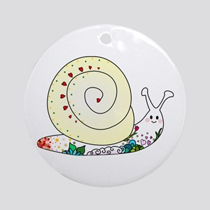 Colorful Cute Snail Ornament (Round)