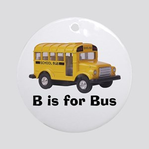 B is for Bus Ornament (Round)