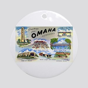 Omaha Nebraska Ornament (Round)