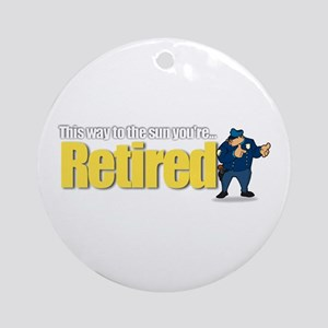 'Retirement Highway 3 :-)' Ornament (Round)