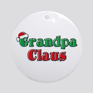 Grandpa Claus Ornament (Round)