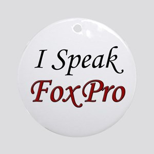 """I Speak FoxPro"" Ornament (Round)"