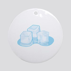 Ice Cubes Ornament (Round)
