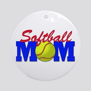 Softball MOM Ornament (Round)