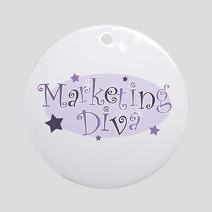 """Marketing Diva"" [purple] Ornament (Round)"