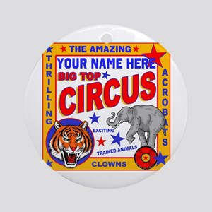 Vintage Circus Poster Round Ornament