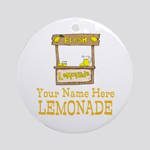 Lemonade Stand Round Ornament