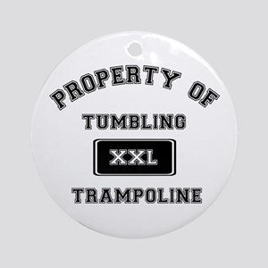 Property of Tumbling Trampoline Ornament (Round)
