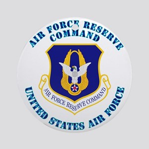 Air-Force-Reserve-Cmdwtxt Round Ornament