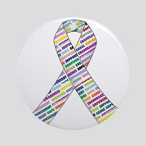 all cancer rep ribbon 2 Round Ornament