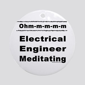 Meditating Engineer Ohm Ornament (Round)