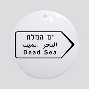 Dead Sea, Israel Round Ornament