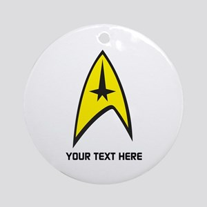 Star Trek Symbol Personalized Round Ornament