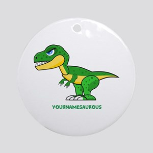 T-rex personalized Round Ornament