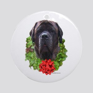 Brindle Wreath Ornament (Round)