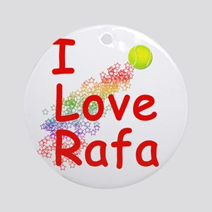 I Love Rafa Ornament (Round)