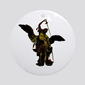 Powerful Angel - Gold Ornament (Round)