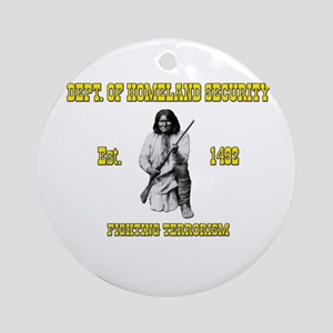 Dept. of Homeland Security Ornament (Round)