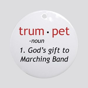 God's Gift Trumpet Ornament (Round)
