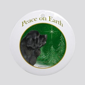 Newfie Peace Ornament (Round)