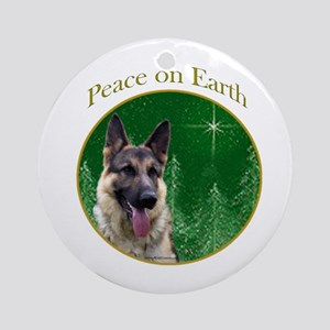 GSD Peace Ornament (Round)