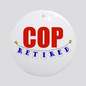 Retired Cop Ornament (Round)