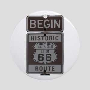 Route 66 Ornament (Round)