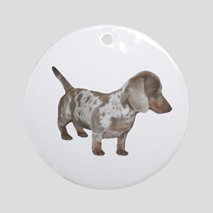 Speckled Dachshund Dog Ornament (Round)