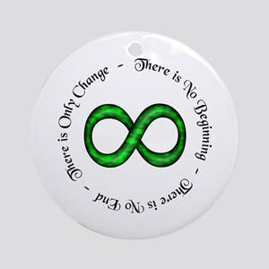 Infinity is Change Ornament (Round)