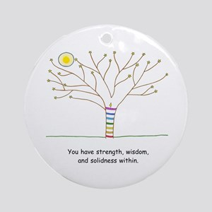New Age Tree Wisdom Ornament (Round)