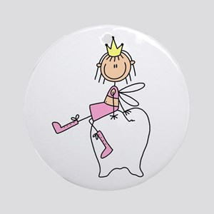 Tooth Fairy on Tooth Ornament (Round)