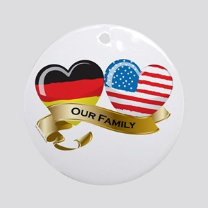 Germany/USA Flag_Our Family Ornament (Round)