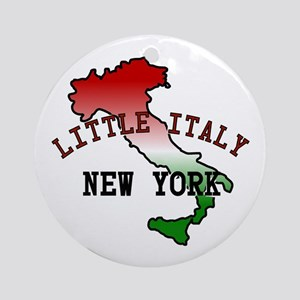 Little Italy New York Ornament (Round)