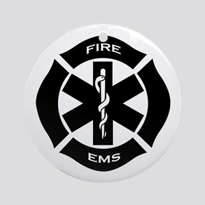 Fire & EMS Ornament (Round)
