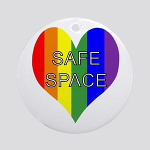 Safe Space In Heart Ornament (Round)