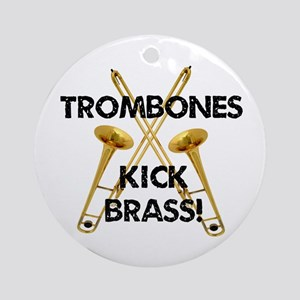 Trombones Kick Brass Ornament (Round)