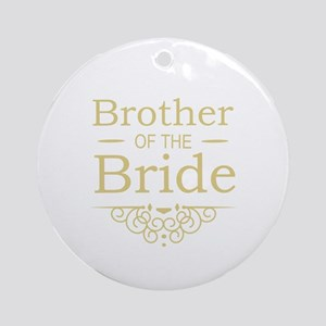 Brother of the Bride gold Ornament (Round)