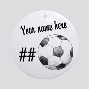 Soccer Art Ornament (Round)