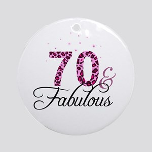 70 and Fabulous Ornament (Round)