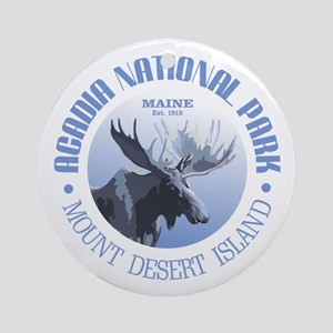 Acadia National Park (moose) Ornament (Round)
